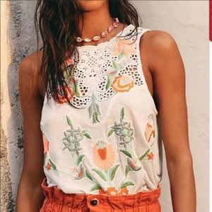 Free People Flower Power Top in Ivory Combo